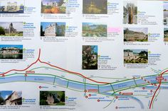 Loire Valley Map from Tours to Angers, Loire Valley, France