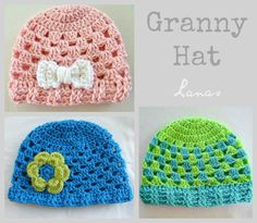 IDEAS: Gorras Simples     Here are some ideas and links to patterns…for simple hats :   Estas son algunas ideas y enlaces de patrones…para...