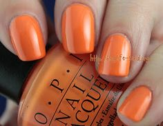 OPI Osaka-To-Me Orange. Love this color. Would be cute for the beach