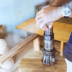 Pressing a perfect cup | AeroPress Bundles On Sale for a limited time! Shop NOW  @originalaeropress Link in Bio  by @_awor by originalaeropress