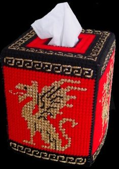 Beautiful Boutique Size Tissue Box Cover by NiftyStitches4U
