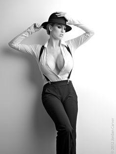 Hat, suspenders, pants