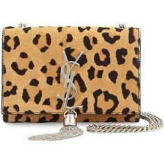 Saint Laurent Monogram Small Leopard-Print Calf Hair Crossbody Bag ec285312ef910