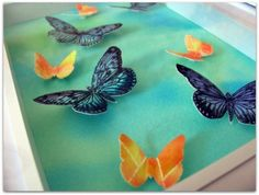 Hand Cut 3D Butterflies. Watercolour by aboundingtreasures on Etsy, $25.00