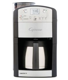 Quietly brew your coffee with this noiseless Capresso Coffee Team 10 Cup Digital Coffee Maker. The insulated carafe ensures that your coffee stays warm throughout the day. It comes with one carafe that Espresso Machine Reviews, Coffee Maker Reviews, Best Espresso Machine, Best Coffee Maker, Espresso Maker, Espresso Coffee, Jura Espresso, Coffee Maker With Grinder, Drip Coffee Maker