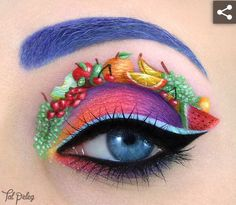 The incredible eye makeup artistry of Tal Peleg is jaw dropping! This is Carmen Miranda's Tutti Fruitti