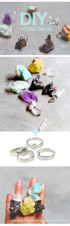 DIY: Raw Stone Rings. Get the how-to at blog.swell.com