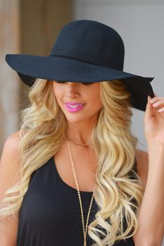 """~*~ USE CODE """"REPLAUREN"""" for 10% OFF PLUS FREE SHIPPING ~*~ Incognido Floppy Hat - Black from Closet Candy Boutique"""