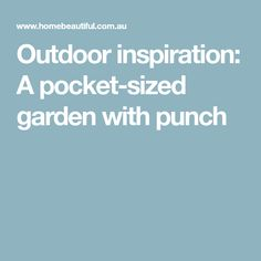 Outdoor inspiration: A pocket-sized garden with punch