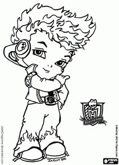 Baby Monster High Coloring Pages | Coloring Pages