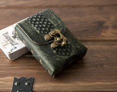 Playing cards leather case, card holder, poker case, Bicycle cards holder, Lenormand cards holder, Tarot leather case, cards, poker, tarot