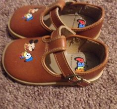 Vintage Mickey Mouse Donald Duck Disney and Pals Baby Shoes Nice Collectible | eBay
