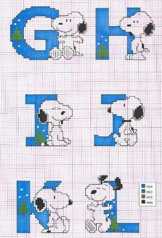 Schema punto croce Snoopy-ghijkl