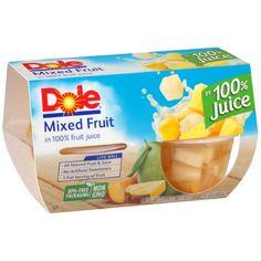 Dole Fruit Bowls®, Mixed Fruit in 100% Fruit Juice, 4-4 oz. Cups