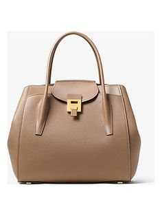 d692b98ce3f2 Michael Kors Collection Bancroft Large Calf Leather Satchel Calf Leather