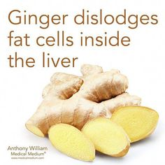 Ginger dislodges fat cells inside the liver🌟 Learn more about the healing powers of ginger in my book Liver Rescue available at Barnes &… Natural Detox, Natural Cures, Natural Health, Natural Vitamins, Health And Nutrition, Health Tips, Health And Wellness, Health Foods, Health Care
