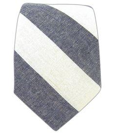 chambray stripe tie
