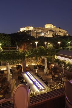Dionysos Restaurant Cafe,  Athens Greece. For more on Athens by Night visit http://thetravelporter.com/