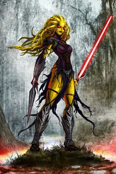 Nautolan Sith - Mikekimart - Paintings & Prints Entertainment Other Entertainment - ArtPal Star Wars Sith, Star Wars Rpg, Star Wars Fan Art, Clone Wars, Star Wars Characters Pictures, Star Wars Images, Dnd Characters, Aliens, Pinup
