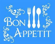 Stencil Bon Appetit 20x25 - OPA