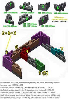 Self Locking Pre Cast Concrete Block Living In A