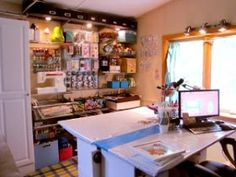 CRAFTY STORAGE: The Odd Girl's craft room