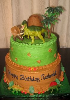 Dinosaur/Volcano birthday cake