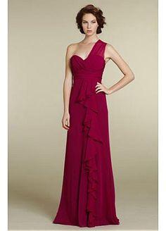 Fabulous Chiffon One Shoulder Neckline Bridesmaid Dress