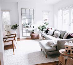 Laila Ivory Braided Wool Rug is part of Living Room Carpet Rug - Condo Living Room, Living Room Carpet, Small Living Rooms, Apartment Living, Living Room Designs, Living Room Decor, Lounge Rug, Braided Wool Rug, Estilo Interior