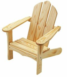 Amazon.com : Little Colorado Child's Adirondack Chair- Unfinished : Childres Adirondack Chairs : Toys & Games
