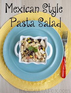 Mexican Style Pasta Salad - RO*TEL, black beans, corn, spicy ranch, and chicken make this spicy pasta salad an instant dinner classic. #YesYouCAN AD