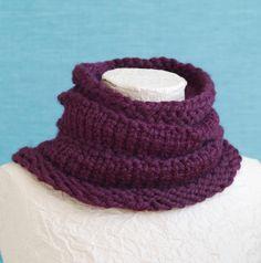 Loom Knit - Ridged cowl made on MS Loom