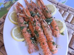 """Langoustines with a """"barbecue"""""""