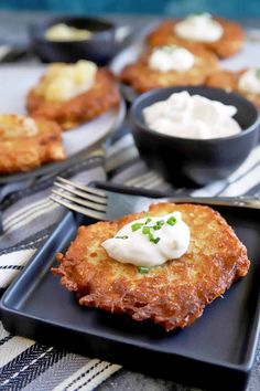 Make our easy recipe for German Kartoffelpuffer, a classic appetizer or side dish that's perfect for Oktoberfest, or anytime! Get the recipe now on Foodal. German Potato Pancakes, German Potatoes, Vegetarian Recipes, Cooking Recipes, Food Now, Vegan Snacks, Potato Recipes, Food Inspiration, Brunch