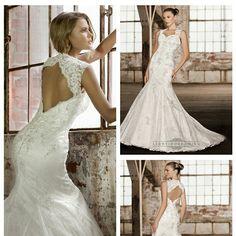 Stunning Straps Trumpet Lace Wedding Dresses with Keyhole Back http://www.ckdress.com/stunning-straps-trumpet-lace-wedding-dresses-with-keyhole-back-p-483.html  #wedding #dresses #dress #lightindream #lightindreaming #wed #clothing #gown #weddingdresses #dressesonline #dressonline #brid http://www.ckdress.com/stunning-straps-trumpet-lace-wedding-dresses-with-keyhole-back-p-483.html
