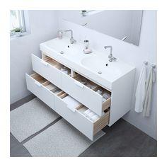 GODMORGON / BRÅVIKEN Sink cabinet with 4 drawers - white - IKEA
