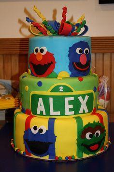 Sesame Street cake http://CW-Cakes.com