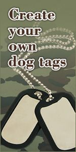 Make Your Own Dog Tags - for a camo birthday party