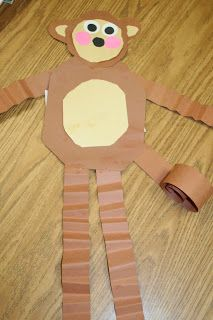 (Zoo Day-Art/Craft) Monkey art-do with fact writing Preschool Jungle, Jungle Crafts, Zoo Animal Crafts, Jungle Art, Preschool Crafts, Jungle Theme, Animal Projects, Preschool Centers, Kids Crafts