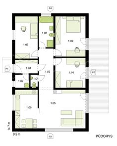 ALFA 140 - Přízemní typový dům | Ekopanely