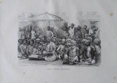 aus 1880 - Darbar in Dholpur Radschputana, Indien - alter Druck old print