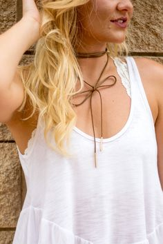 Bolo wrap necklace brown from Lush Fashion Lounge