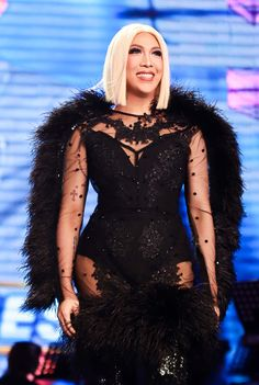 Giving us no less than extravagance, Vice Ganda shows us how it's done to be a real superstar in Idol Philippines. Here are our favorite looks. Sheer Dress, I Dress, Michael Cinco Gowns, Vice Ganda, Neon Dresses, Red Bodysuit, Red Blazer, Her Style, Color Mixing
