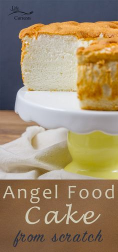 Classic Angel Food Cake recipe from Scratch -- so much better than store bought!