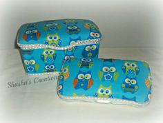 Wipes case set Owls