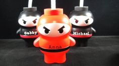Personalized Ninja/Karate Cup  Quantity 8 by MamaMiasCupcakes, $20.00