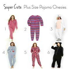 Six Cute Plus Size Pajama Onesies - Plus Size Princess