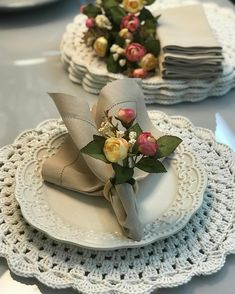 Table Settings, Entertaining, Table Decorations, Projects, Diy, Crocheting, Food, Easter, Home Decor