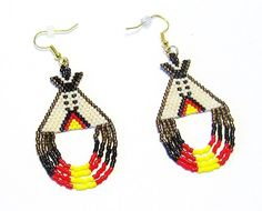 Beaded Dangle Tipi Earrings - Seed Bead Earrings - Womens Earrings - Drop Dangle Earrings sold by The Beaded Diamond. Shop more products from The Beaded Diamond on Storenvy, the home of independent small businesses all over the world.