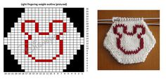 Ravelry: Disneyette's Mickey Mouse Hexapuff charts